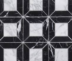 Tile Black And White Marble by Tile Jeff Lewis Design