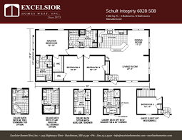 schult modular home floor plans schult integrity 6028 508 excelsior homes west inc