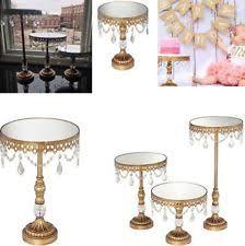 vintage wedding cake stands dahlia studios antique gold beaded mirror top cake stands
