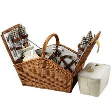 picnic basket for 4 picnic at ascot huntsman style willow picnic
