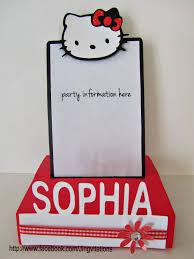 Invitation Card Hello Kitty Jingvitations Hello Kitty Foldable Pop Up Card Invitations