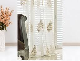 Embroidered Linen Curtains Decorate With Sheer