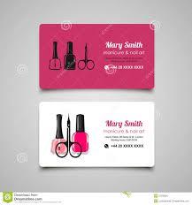 manicure salon business card vector design templates set stock