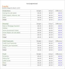 sample family budget monthly family budget great habit to start