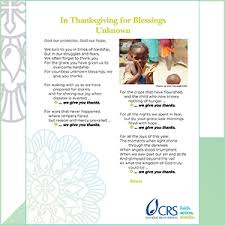 thanksgiving prayers crs