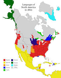 North America Map 1700 by Languages Spoken In North America In 1860 Gaelic Once Thrived In