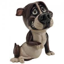 staffordshire bull terrier figurine paws staffordshire