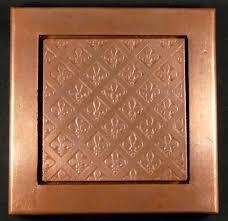 copper tile wall popular copper wall decor home decor ideas