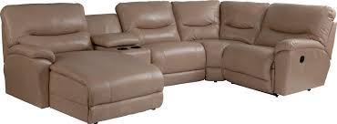casual five piece reclining sectional sofa with ras chaise by la z