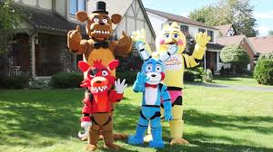 amazing fnaf costumes foxy bonnie freddy toy chica five