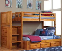 Kids Bunk Beds Twin Over Full by Ridgeline Honey Twin Over Full Stair Stepper Bunk Bed Bed Frames