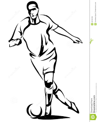 football player clipart black and white clipart panda free