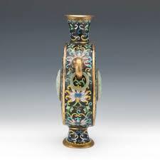 Buddhist Treasure Vase Chinese Cloisonne Enameled Moon Flask