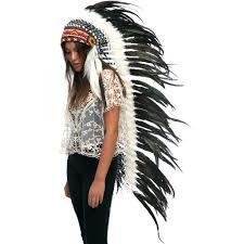 Native American Inspired Clothing Extra Long Native American Headdress Replica Iridescent Black