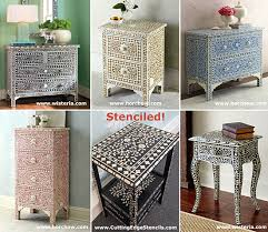 Bone Inlay Chair Indian Inlay Stenciled Table Domestic Imperfection