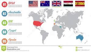 World Map Australia by World Map Infographic Slide Presentation Usa Australia Uk