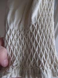 honeycomb smocking sle with gathering stitching sewing