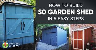 How To Build A Pole Barn Plans For Free by How To Build A Free Garden Storage Shed 8 More Inexpensive Ideas