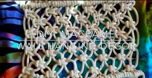 how to diy macrame wall hanging decor boho room decor how to diy macrame wall hanging decor boho room decor youtube