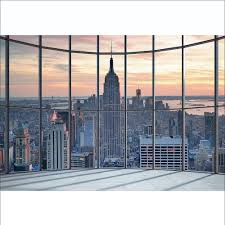 window wall mural cityscape wall murals you ll love 1wall new york city scape window view mural wallpaper 366cm x 254cm wall mural window view manhattan cityscape