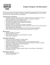 Freelance Writer Job Description For Resume by Graphic Designer Job Description Resume Xpertresumes Com