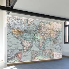 vintage world map wall mural decal 100 vintage world map wall mural decal 100