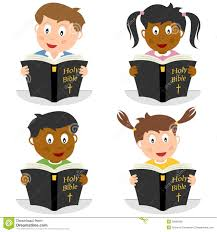 free clipart kids reading bible collection