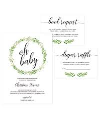 floral themed baby shower invitation set template download edit
