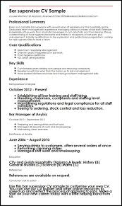 Resumes For Electricians Bar Resume Examples