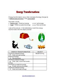 energy conversion worksheets 6th grade education pinterest