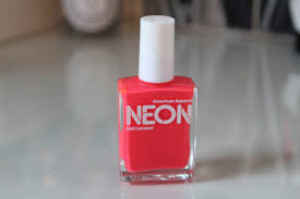 american apparel neon red nail polish u2013 lily pebbles
