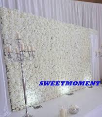wedding backdrop flower wall aliexpress buy luxury wedding flower wall white flower