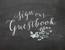 Wedding Signs Template Sign Our Guestbook Chalkboard Wedding Sign Printable Oconee Events