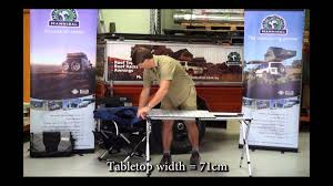 c chef mesa aluminum c table expandable cing table youtube