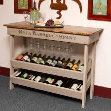 Old World Napa Vineyard Wine Table And Rack