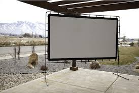 Backyard Screens Outdoor by Theater Movie Screen Portable Outdoor Backyard Projector Rear