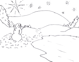 free printable christmas tree and santa coloring pages kids