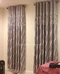 Blackout Curtains Gray Blackout Curtain With Geometric Patterned Silver Gray Blackout Curtain