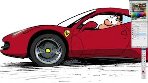 ferrari drawing pau how to draw a ferrari 458 italia youtube