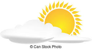 sun with clouds background vector illustration vector