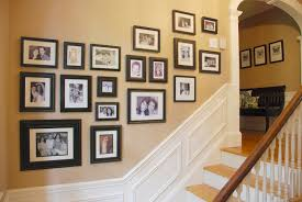 decorating 9 opening black wooden collage picture frames for wall