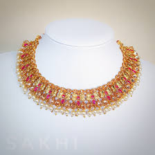 pink necklace images Rupa pink necklace tikka earring set sakhi jpeg