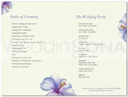 Sample Wedding Programs Templates Free Wedding Program Templates Vnzgames