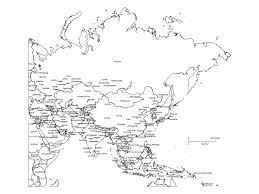 asia map with labels asia powerpoint map with countries capital cities major cities