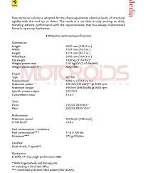 458 engine weight official pictures specs and details f458 italia spider