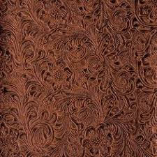 Upholstery Fabric Faux Leather Turquoise Western Tool Embossed Floral Leather Embossed Leather