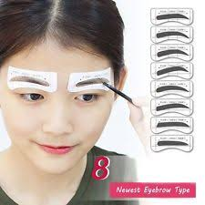 32pairs shaper eye grooming eyebrow template stickers 8 types brow