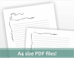 download for a4 size letter writing paper printable pdf file