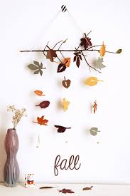 diy autumn leaf mobile so pretty diy projects