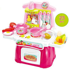 Best Kids Play Kitchen by Plastic Best Kids Combination Classic Pretend Play Kitchen Cooking